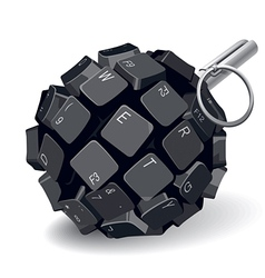 Keyboard grenade vector