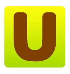 letter u sign design template element vector image vector image