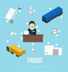 Logistics and freight shipment flowchart vector