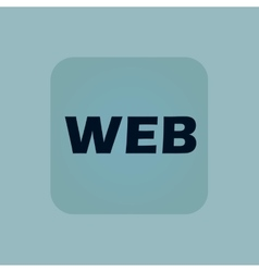 Pale blue web icon vector