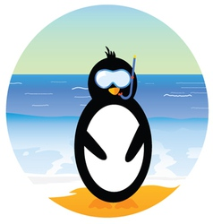 penguin on the beach part two vector image