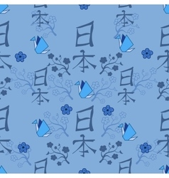 Seamless japanese pattern vector