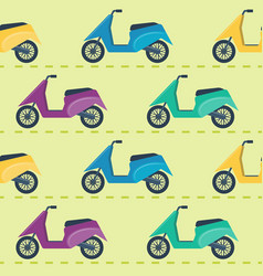 Seamless pattern with scooters vector