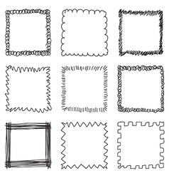 Set of Hand Drawn Frames vector image vector image