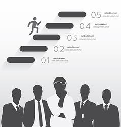 Silhouette businessman team vector image