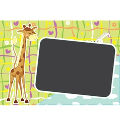 summer african photo frame vector image vector image