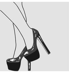 The legs of women vector image