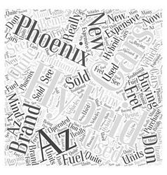 Hybrid cars phoenix az word cloud concept vector