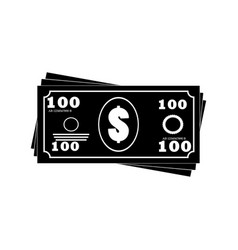 money banknotes stack icon vector image