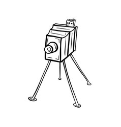 Old photocamera19th century vector