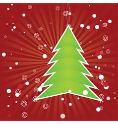 Christmas tree green applique vector image
