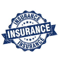 Insurance stamp sign seal vector