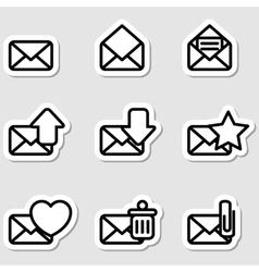 Envelopes icons as labels vector