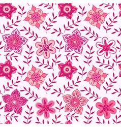 ornate flowers seamless textureendless pattern vector image