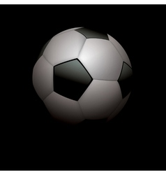 Football soccer ball on black vector