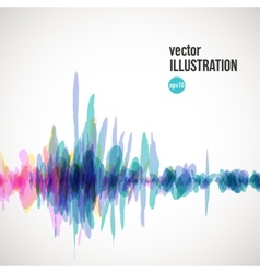 Abstract splash of red and blue spots vector