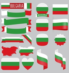 Bulgaria flags vector