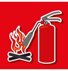 Fire emergency concept design vector