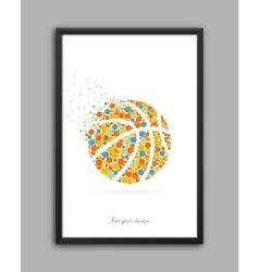 Abstract creative concept icon of basket vector