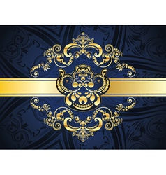 Blue Decorative Background4 vector image vector image