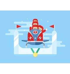 Bobsleigh winter sport vector image vector image