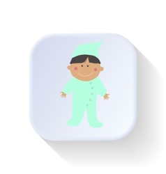 Boy in pajamas vector