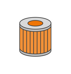 car oil filter flat line icon vector image