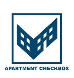 Checkbox in the form of a building vector