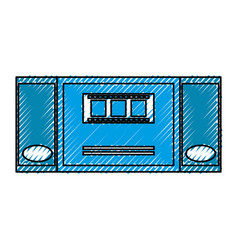 cinema ticket entrance vector image vector image