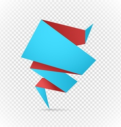 Color polygonal origami banner on transparent vector image vector image