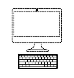 computer desktop isolated icon vector image vector image