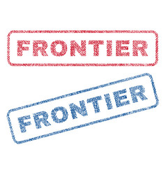 Frontier textile stamps vector