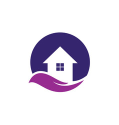 House abstract logo design vector
