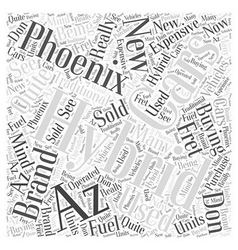 hybrid cars phoenix az Word Cloud Concept vector image vector image