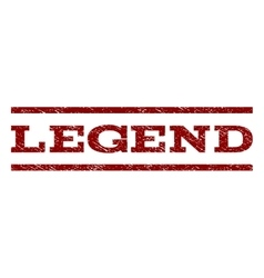 Legend Watermark Stamp vector image vector image