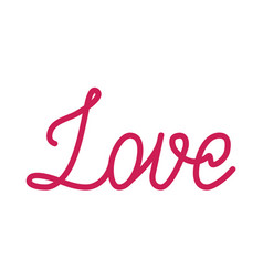 Love red lettering vector