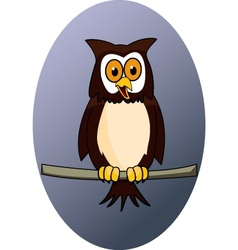 owl cartoon vector image vector image
