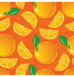 seamless pattern of cartoon oranges vector image vector image