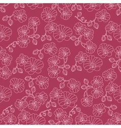 seamless pattern with orchids vector image vector image