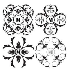 Set of medieval ornamental monograms framework vector image