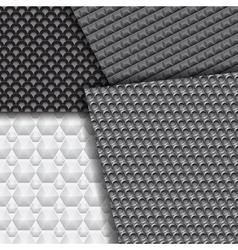 Set of several seamless carbon fiber patterns vector image