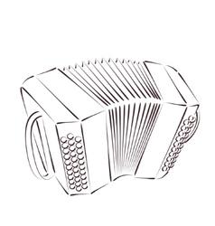 Sketched bandoneon vector