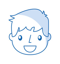 Smiling handsome icon boy vector