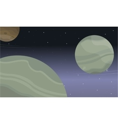 Space planet background of landscape vector image vector image