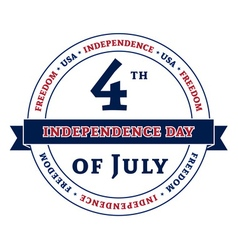 Symbol american independence day celebration vector