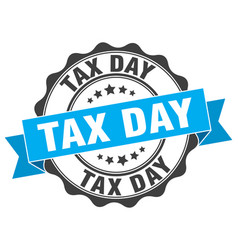 tax day stamp sign seal vector image vector image