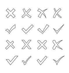 tick and cross set vector image