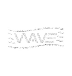 Wave logo text dots particles graphic design t vector image vector image