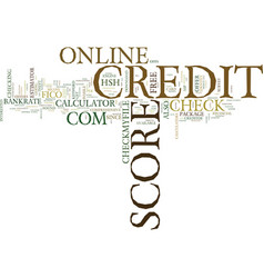 Z online credit score text background word cloud vector