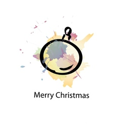 Christmas object with sample text vector